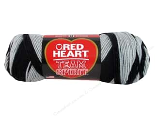 Clearance Red Heart Pomp A Doodle Yarn: Red Heart Team Spirit Yarn #0942 Black/Gray