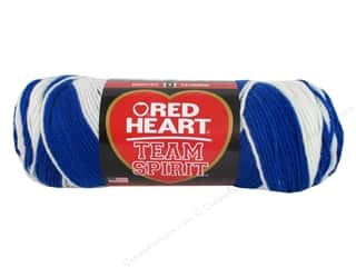 yarn & needlework: Red Heart Team Spirit Yarn #0947 Royal/White 244 yd.