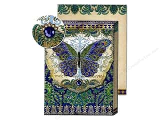 Punch Studio Pocket Note Pad Patchwork Peacock Butterfly