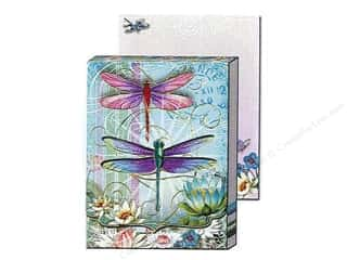 die cuts: Punch Studio Pocket Note Pad Window Blue Dragonfly