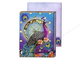 die cuts: Punch Studio Pocket Note Pad Window Purple Peacock