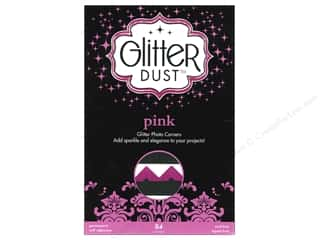 photo corner: Therm-O-Web Glitter Dust Photo Corners Pink 84pc