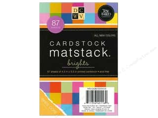 scrapbooking & paper crafts: Die Cuts with a View 4 1/2 x 6 1/2 in. Cardstock Mat Stack MatchMaker Brights