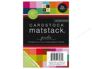 Clearance Die Cuts with a View Stacks: Die Cuts With A View  4 1/2 x 6 1/2 in. Cardstock Mat Stack Textured Jewels