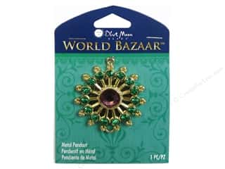 Clearance Blue Moon Pendant: Blue Moon Beads Metal Pendant World Bazaar Gold Star with Rhinestones