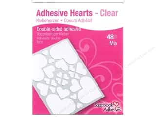 3L Scrapbook Adhesives Adhesive Hearts 48 pc. Clear