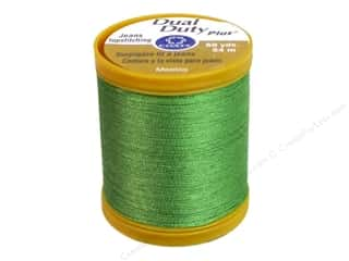 Metrosene Plus Polyester thread : Coats Dual Duty Plus Jeans Topstitching Polyester Thread 60 yd. Bright Green