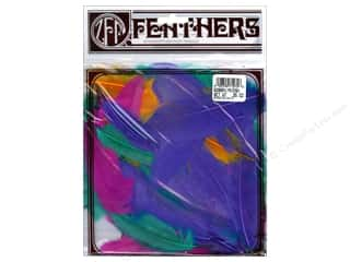 Feathers: Zucker Feather Goose Satinettes Feathers  1/4 oz. Carnival Mix
