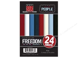 Bazzill 4 x 6 in. Multi Pack We The People 24 pc.