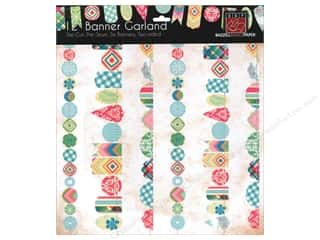 Bazzill embellishment: Bazzill Die-Cut Garland Banners 6 pc. Girl