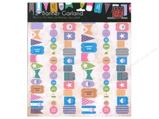 Bazzill embellishment: Bazzill Die-Cut Garland Banners 6 pc. Happy Birthday