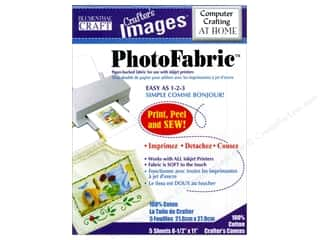 scrapbooking & paper crafts: Blumenthal Crafter's Images PhotoFabric 8 1/2 x 11 in. Cotton Canvas 5 pc.
