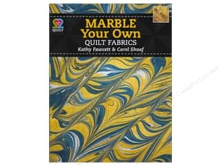 Quilting Fabric: American Quilter's Society Marble Your Own Quilt Fabrics Book by Kathy Fawcett & Carol Shoaf