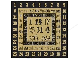 Canvas Corp 12 x 12 in. Paper Just Numerals On Kraft (15 sheets)