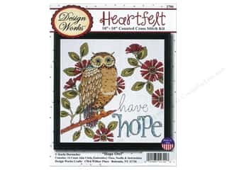 weekly special tasting: Design Works Cross Stitch Kit 10 x 10 in. Hope Owl