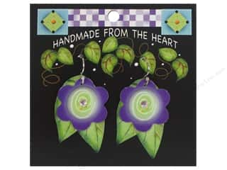 Jody Houghton Earrings Acrylic Flower Purple