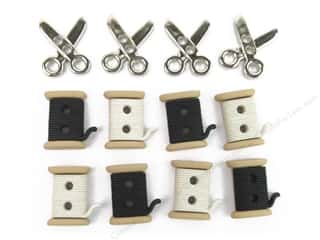 scrapbooking & paper crafts: Jesse James Dress It Up Embellishments Sew Cute Spools and Scissors