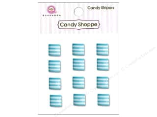 Queen : Queen&Co Sticker Candy Stripers Square Blueberry Bliss