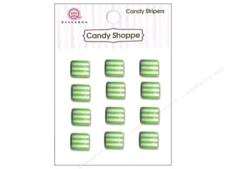 Queen : Queen&Co Sticker Candy Stripers Square Kiwi Kiss