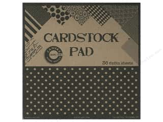 scrapbooking & paper crafts: Canvas Corp 6 x 6 in. Cardstock Pad Black & Kraft Prints