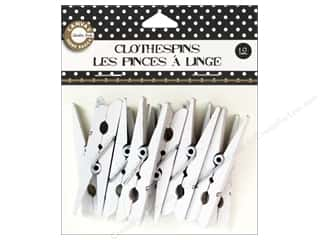 Canvas Home Basics: Canvas Corp Small Clothespins 12 pc. White