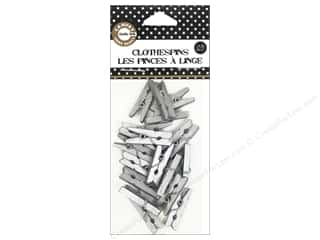 Canvas Corp Mini Clothespins 25 pc. Silver