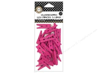 Canvas Corp Mini Clothespins 25 pc. Hot Pink
