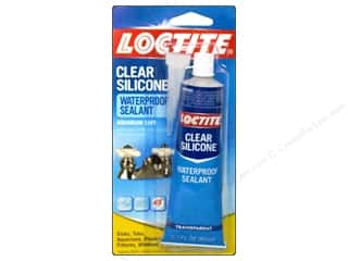 glues, adhesives & tapes: Loctite Adhesive Clear Silicone Sealant 2.7 oz.