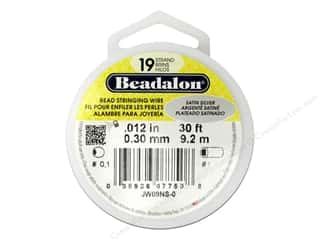 beading & jewelry making supplies: Beadalon Bead Wire 19 Strand .012 in. Satin Silver 30 ft.