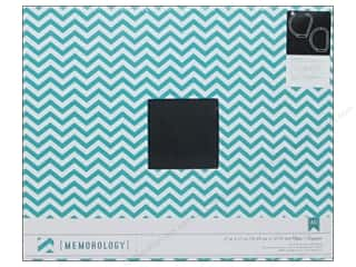 American Crafts 12 x 12 in. 3-Ring Album Teal Chevron