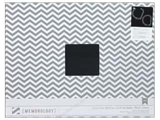 American Crafts 12 x 12 in. 3-Ring Album Grey Chevron