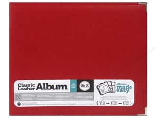 Memory Albums / Scrapbooks / Photo Albums: We R Memory Keepers 3-Ring Album 12 x 12 in. Classic Leather Real Red