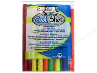 Surebonder LowTemp Cool Shot Glue Stick Mini 4 in. Multicolor