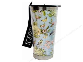 Cups & Mugs: Lang Travel Mug 16 oz. Blue Hydrangea