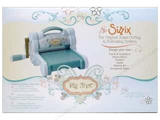 Fabric Cutters / Buttonhole Cutters: Sizzix Big Shot Shape Cutting Machine Blue