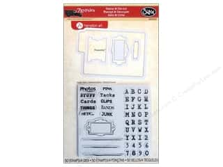 Sizzix Framelits Die Set 4 PK with Stamps Gypsy Files by 7Gypsies