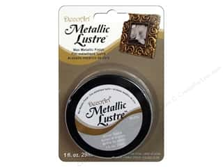 craft & hobbies: DecoArt Metallic Lustre 1 oz. Silver Spark