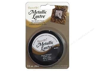 craft & hobbies: DecoArt Metallic Lustre 1 oz. Black Shimmer