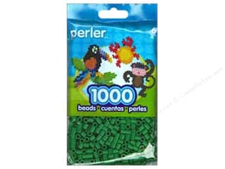 beading & jewelry making supplies: Perler Beads 1000 pc. Dark Green
