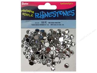 beading & jewelry making supplies: Darice Acrylic Rhinestone 7 mm Round Crystal 150 pc.
