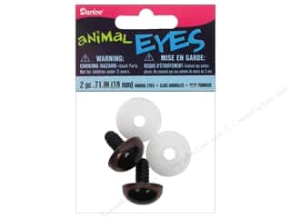 Doll & Animal Eyes: Darice Animal Eyes with Plastic Washers 18 mm Brown 2pc.