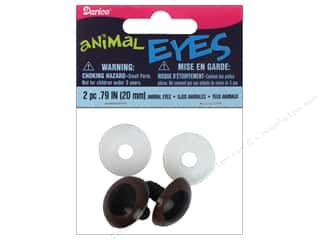 Doll & Animal Eyes: Darice Animal Eyes with Plastic Washers 20 mm Brown 2 pc.