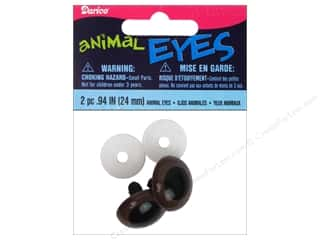 Doll & Animal Eyes: Darice Animal Eyes with Plastic Washers 24 mm Brown 2 pc.