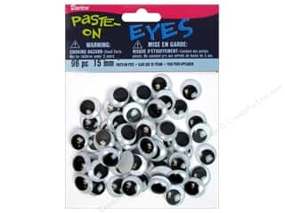 Darice Googly Eyes by Darice Paste-On 15 mm Black 96 pc.