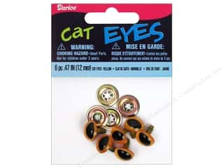 craft & hobbies: Darice Cat Eyes with Metal Washers 12 mm Yellow 6 pc.