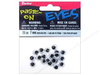 Darice Googly Eyes Paste-On 7 mm Black 20 pc.