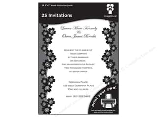 "Cards & Envelopes  5"" x 7"": Imaginisce Cards Black Ice Invitation Sakura 5""x 7"" 25pc"