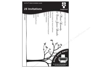 "Cards & Envelopes  5"" x 7"": Imaginisce Cards Black Ice Invitation Tree Line 5""x 7"" 25pc"