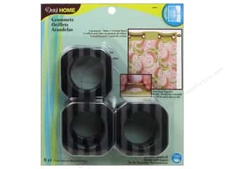 "1 9/16"" curtain grommets: Dritz Home Curtain Grommets 1 9/16 in. Square Black Stripe 8pc"