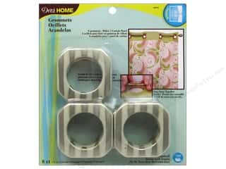 Dritz Home Curtain Grommets 1 9/16 in Square Champagne Stripe 8pc
